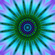 Digital Kaleidoscope Mandala 51 Poster