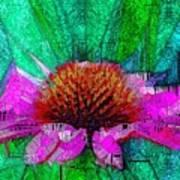 Digital Pink Echinacea  Poster