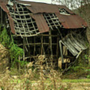 Dilapidated Barn Morgan County Kentucky Poster