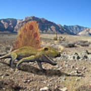 Dimetrodon In The Desert Poster