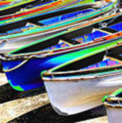 Dinghies On Beach Poster