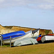Dinghy Park At Freshwater Bay Poster