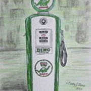 Dino Sinclair Gas Pump Poster