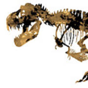 Dinosaur Sepia Print Poster