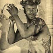 Dionysus Sepia Old Poster