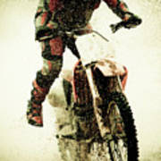 Dirt Bike Rider Poster by Thorpeland Photography