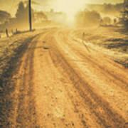 Dirt Road Sunrise Poster