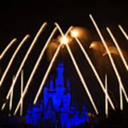 Disney Castle Fireworks Poster