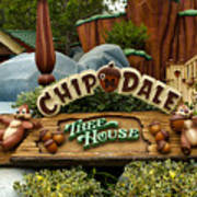 Disneyland Chip And Dale Signage Poster