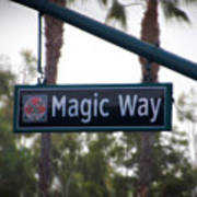 Disneyland Magic Way Street Signage Poster