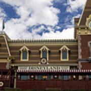Disneyland Train Depot Signage Poster