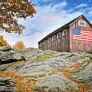 Display Of Colors - Roxbury Barn  Poster by Thomas Schoeller