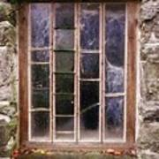 Disused Watermill Window Poster