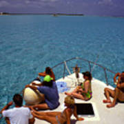 Diveboat At Little Cayman Poster
