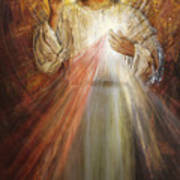 Divine Mercy, Sacred Heart of Jesus 1 Poster