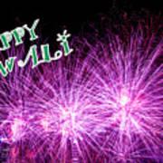 Diwali Greetings Card Poster