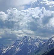 Dm9233 Clouds Over Mt. Moran V Poster