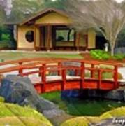 Do-00006 Cypress Bridge And Tea House Poster