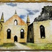 Do-00247 Church At Port Arthur Poster