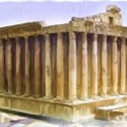 Do-00312 Temple Of Bacchus In Baalbeck Poster