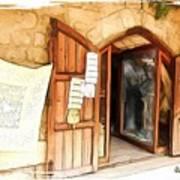 Do-00345 Display Door In The Souk Of Byblos Poster