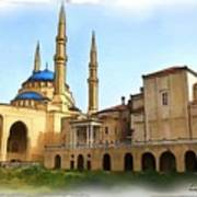 Do-00362al Amin Mosque And St George Maronite Cathedral Poster