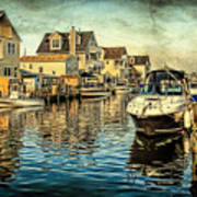 Docked At Pier In Orlieb Beach Nj Poster