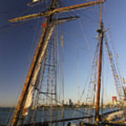 Docked Tall Ship Poster