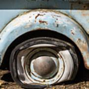 Dodge Pickup - Flat Tire Poster