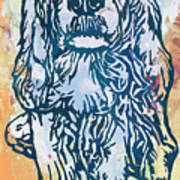 Dog Pop Etching Art Poster Poster