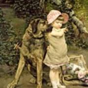 Dog's Company Poster by Edgard Farasyn