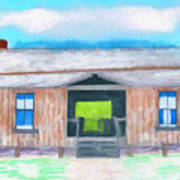Dogtrot Cracker Home Drawing Poster