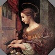 Dolci Carlo St Cecilia At The Organ Poster