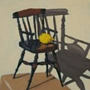 Doll's Chair With Lemon Poster
