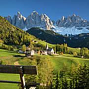 Dolomites View Poster