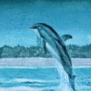 Dolphin Mural Poster