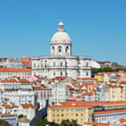 Dome Of Gothic Church In Lisbon Poster