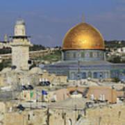Dome Of The Rock Jerusalem Israel Poster