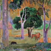 Dominican Landscape Poster by Paul Gauguin