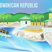 Dominican Republic Horizontal Scene Poster