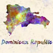 Dominican Republic In Watercolor Poster