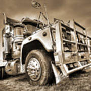 Done Hauling - Sepia Poster
