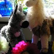 Donkey Joti And Dali Llama Poster