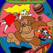 Donkey Kong Arcade Game Art Poster
