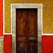 Door In Abstract Poster