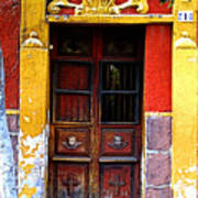 Door In The House Of Icons Poster by Mexicolors Art Photography