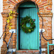 Door With Holiday Reef Poster