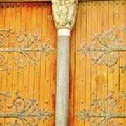 Doorway Detail at St. Tropheme Church in Arles Poster
