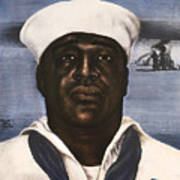 Dorie Miller - Above And Beyond - Ww2 Poster