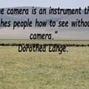 Dorothea Lange Quote Poster